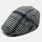 New Men Polka Dot Plaid Striped Beret Warm Striped Plaid Hat