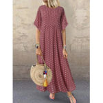 New              Polka Dot Print Maxi Dress