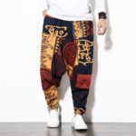 New              Mens Cotton Linen Vintage Harem Pants Hip Hop Pants