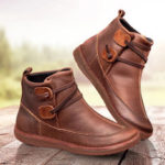 New              Classic Stitching Solid Color Slip Resistant Ankle Boots