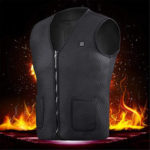 New              Electric Heated Vest Washable USB Charging Heating Jecket Winter Warm Vest