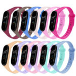 New              Pure Color Watch Band Watch Strap Replacement for Xiaomi Miband 4 Miband 3