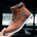 New              Non-Slip Wear Resistant Casual Outdoor Leather Boots