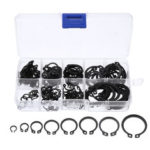 New              160Pcs C-Clips C-type Circlip Snap Ring Heavy Duty Retaining Set Assortment Black Ring 8 Sizes