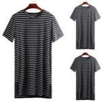 New              Men's Kaftan Pajamas Sleepwear Summer Short Sleeve Lounge T Shirts Night Dress