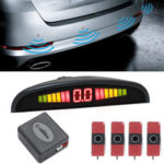 New              16.5mm Flat Sensor Car Reverse Parking System Front Rear Radar Detector With LED Display