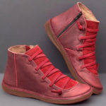 New              Women Comfortable  Resistant Flat Casual Boots