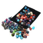 New              105 Pcs Dice Set Polyhedral Dices 7 Color Role Playing Table Game With Cloth Game Multi-sied Dice