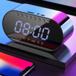 New              LyRay Wireless Bluetooth 4.2 Portable Speaker Double Alarm Clock FM Radio Bass Double Speaker