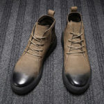 New              Retro Stylish Casual Soft Leather Ankle Boots