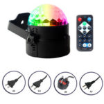 New              7 Colors LED Disco Ball DJ Party Stage Light Sound Activated Remote Control