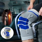 New              Running Fitness Mountaineering Silicone Knit Spring Knee Pad