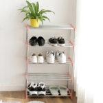 New              4 Layers DIY Shoe Racks Storage Organizer Stainless Steel For Dormitory