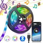 New              5V USB Power bluetooth Music Remote APP LED Strip Light 5050 RGB TV Backlight Decoration