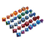 New              35Pcs Acrylic Polyhedral Dice Set Role Playing Game Dices Gadget for Dungeons Dragons D20 D12 D10 D8 D6 D4 Games