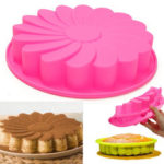 "New              9"" Silicone Flower Cake Chocolate Bread Mould Bakeware Pan Cake Pan Baking Tool"