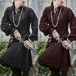 New              Mens Medieval Renaissance Long Sleeve Party Tunic Norseman Saxon Cosplay Costume