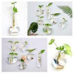 New              Irregular Wall Hanging Glass Planter Air Plant Terrarium Flower Pots Vase