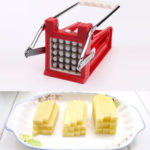 New              Potato Chipper Slicer Stainless Steel 2 Blades French Fry Maker Chips Cutter Potato Roller Cutter