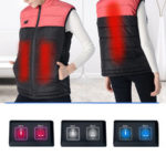 New              S-3XL Unisex Electric Vest USB Heated Heating Pad Winter Coat Jacket Warm