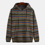 New              Fashion Hooded Solid Color Drawstring  Casual Sweatshirt