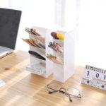 New              Mrosaa LiGo Tilted Pen Holder Office Desktop Storage Box Desk Stationery Cosmetic Makeup Brushes Organizer