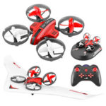 New              L6082 DIY All in One Air Genius Drone 3-Mode With Fixed Wing Glider RC Quadcopter RTF