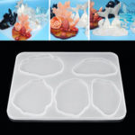 New              Agate Resin Casting Mold Silicone Making Epoxy Mould Craft DIY Clay Tool