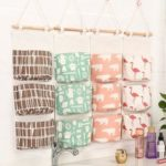 New              3 Grids Wall Hanging Storage Bag Organizer Toys Container Decor Pocket Pouch Desktop Organizer
