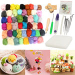 New              50 Color Felting Needles Starter Kits Mat Wool Fibre Needle Sewing Tools