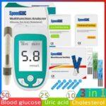 New              3in1 Multi-Function Cholesterol&UricAcid&Blood Glucose Meter