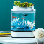 New              Geometry Mini Lazy Fish Tank USB Charging Self-cleaning Aquarium with 7 Colors LED Light from Xiaomi Youpin