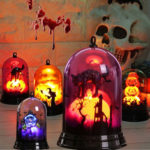 New              Halloween Small Lampshade Humorous Pumpkin Witch Black Cat Night Light Decoration Home Furnishing Holiday Gift