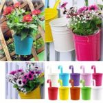 New              10Pcs Iron Metal Hanging Flower Pot Balcony Plant Garden Planter Home Decorations