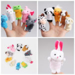 New              10Pcs Plush Animal Finger Puppet Set Play Learn Story Toy Kids Baby Early Educational Dolls
