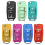 New              For VW Golf Passat Beetle Jetta Polo Bora 3 Button Car Key Fob Case Replacement 7 Colors
