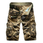 New              Camouflage Cotton Men's Shorts Loose Multi-pocket Five-point Pants Travel Sport Hunting