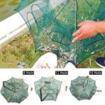 New              8/12/16 Holes Automatic Fishing Net Shrimp Cage Nylon Foldable Crab Fish Trap