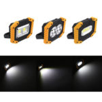 New              30W COB Rechargeable Portable Flood Work Spot Light w/ Power Bank Camping Work Light