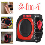 New              Drillpro 3 In 1 Digital LED Measuring Tape String Sonic Roller Mode Laser Measure Tool Woodworking