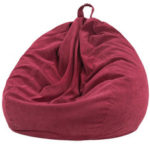 New              Corduroy Bean Bag Chair 70*80cm Multicolor Gaming Sofa Cover Indoor Lazy Sofa With Mesh Bag Liner Cover