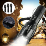 New              Tactical 90000LM T6 LED Flashlight Zoomable 5 Modes 18650 Focus Torch+AAA