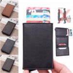 New              Men Leather Wallet Travel RFID Blocking Purse ID Credit Card Holder Coin Pockets