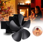 New              7.1inch 1500RPM 5 Blade Fireplace Fan Winter Warm Stove Heater Fan Heat Powered Fan