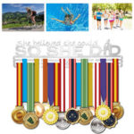 New              Stainless Steel Medal Holder Hanger Display Rack For Sport Running Swimming Decorations