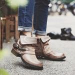 New              Women Retro Rivet Belt Buckle Chunky Heel Casual Ankle Boots