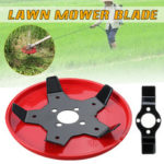 New              Outdoor Garden Grass Trimmer Head Lawn Mower Blades Steel Brush Cutter Blades with Protective Cover