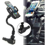 New              2 USB Ports Car Charger Stand Mount Holder For iPhone 5 5S 5C