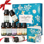 New              8Pcs Essential Oils Set Lavender Orange Tea Tree Lemongrass Eucalyptus Mint Frankincense Rosemary Essential Oil
