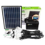 New              10W Solar Power Panel Generator Storage LED Light USB Charger Home Outdoor System Kit